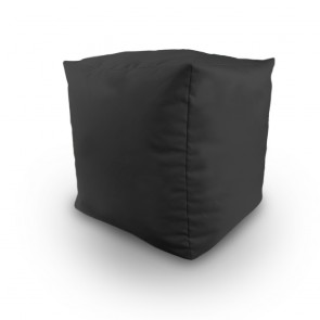 Black Water Resistant Filled Bean Bag Cube